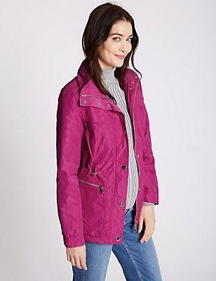 Jacquard Anorak Jacket with Stormwear™, FUCHSIA, catlanding