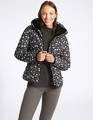 Floral Print Padded Jacket with Stormwear™, MULTI, catlanding