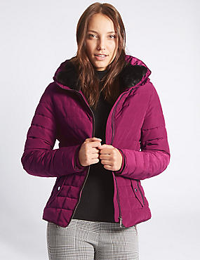 Padded Jacket with Stormwear™, PINK, catlanding