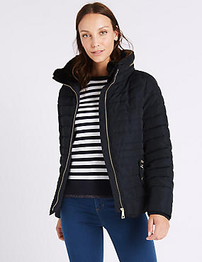 Padded Jacket with Stormwear™, NAVY, catlanding