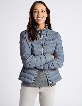 Padded Down & Feather Jacket with Stormwear™, SOFT BLUE, catlanding