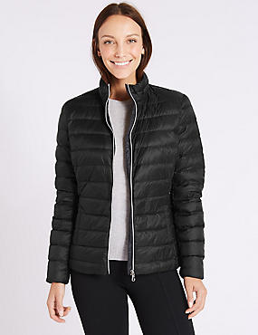 Padded Down & Feather Jacket with Stormwear™, BLACK, catlanding