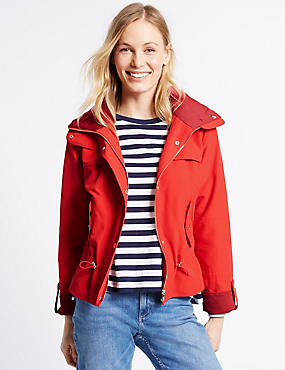 Shortie Anorak Jacket with Stormwear™, RED, catlanding