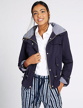 Shortie Anorak Jacket with Stormwear™, NAVY, catlanding
