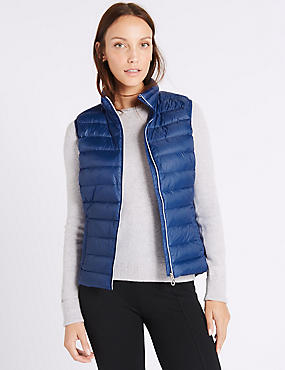 Down & Feather Gilet with Stormwear™, COBALT, catlanding