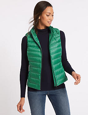Down & Feather Gilet with Stormwear™, EMERALD, catlanding