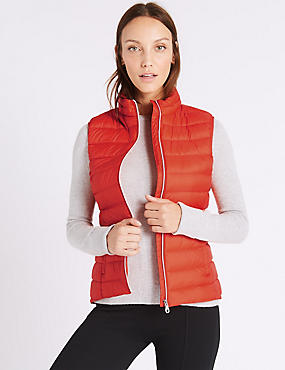 Down & Feather Gilet with Stormwear™, ORANGE, catlanding