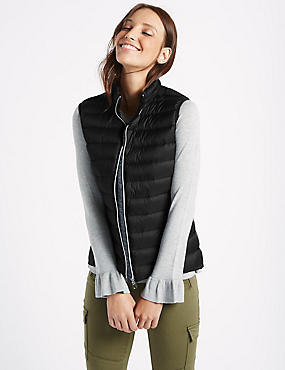 Down & Feather Gilet with Stormwear™, BLACK, catlanding
