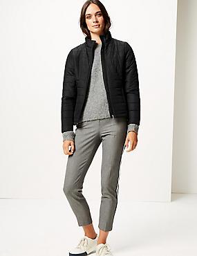 Padded Jacket, BLACK, catlanding