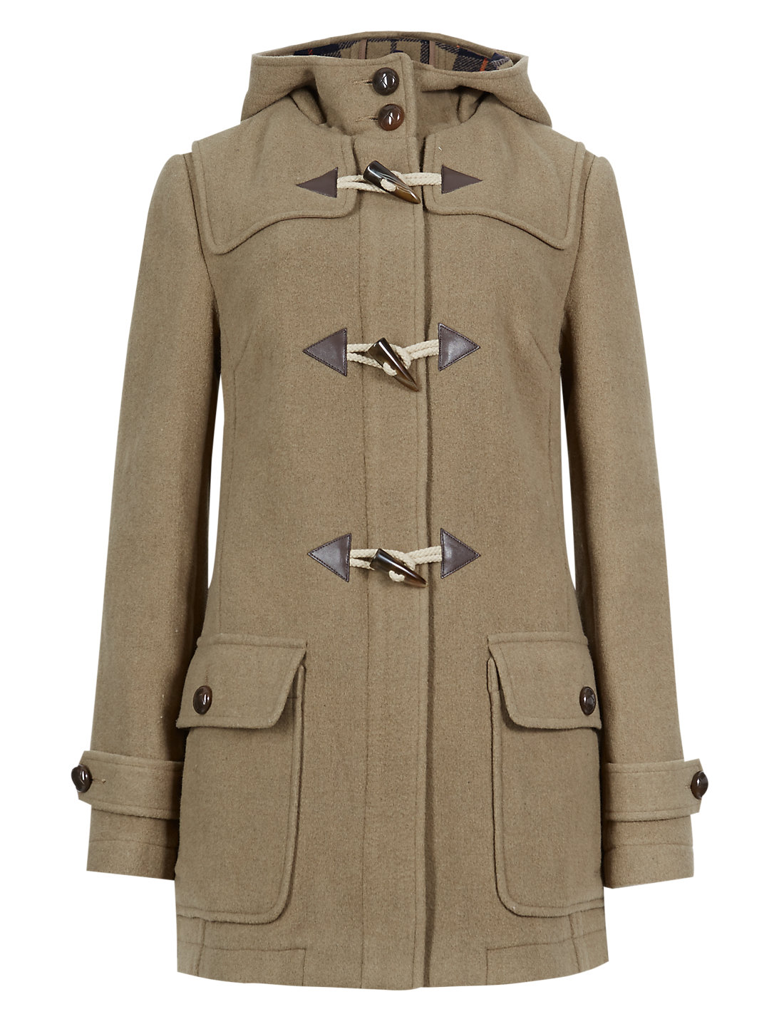 Hooded Duffle Coat with Wool & | M&S