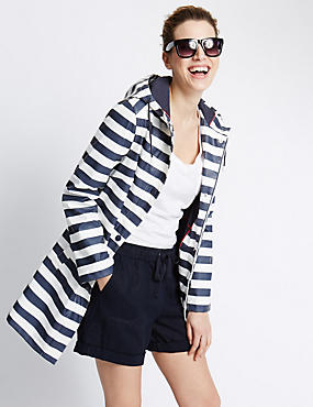 Hooded Striped Anorak with Stormwear™