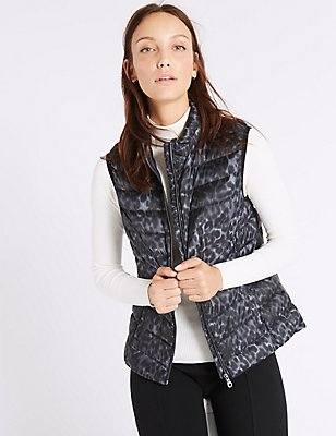 Down & Feather Gilet with Stormwear™, GREY MIX, catlanding