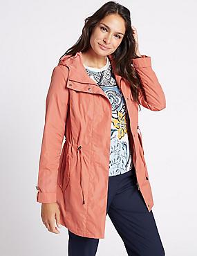 Fleece Parka with Stormwear™, TERRACOTTA, catlanding