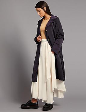Kapuzenparka aus Satin mit Stormwear™, BROMBEERE, catlanding