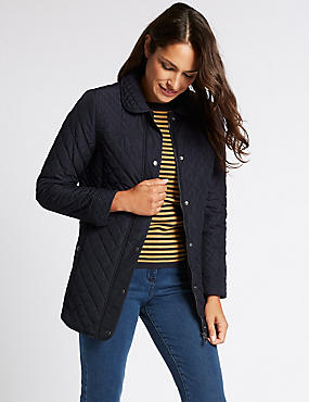 Padded & Quilted Jacket with Stormwear™, NAVY, catlanding