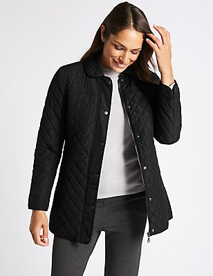Padded & Quilted Jacket with Stormwear™, BLACK, catlanding