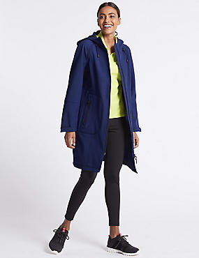 Funnel Neck Coat with Stormwear™, BRIGHT BLUE, catlanding