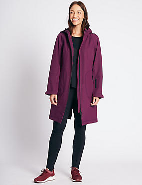 Funnel Neck Coat with Stormwear™, BERRY, catlanding