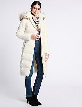 Down & Feather Jacket with Stormwear™, IVORY, catlanding