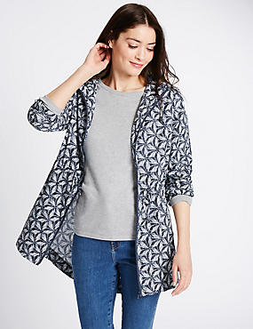 Printed Parka with Stormwear™, NAVY MIX, catlanding