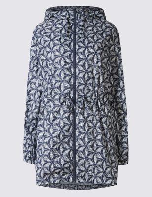 Лёгкая принтованная парка Stormwear™ свободного кроя M&S Collection T493706A