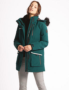 Padded Coat with Stormwear™, TEAL, catlanding