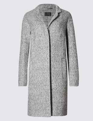 Буклированное пальто классического кроя M&S Collection T493719