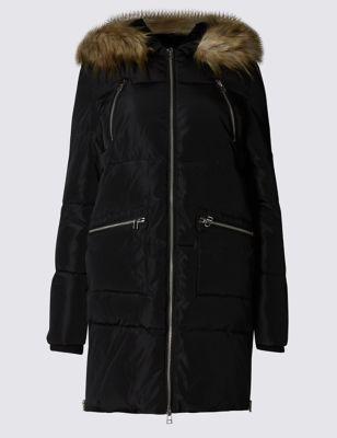 Утеплённая куртка Stormwear™ классического кроя с капюшоном M&S Collection T493732