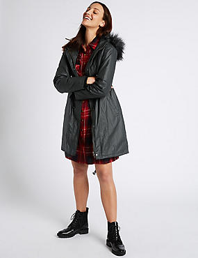 Pure Cotton Hooded Parka, CARBON, catlanding
