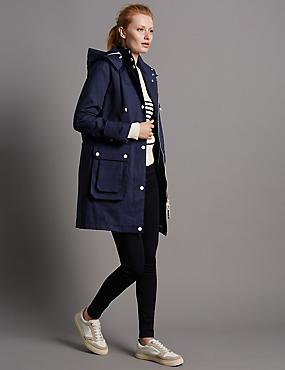 Pure Cotton Anorak with Stormwear™, NAVY, catlanding
