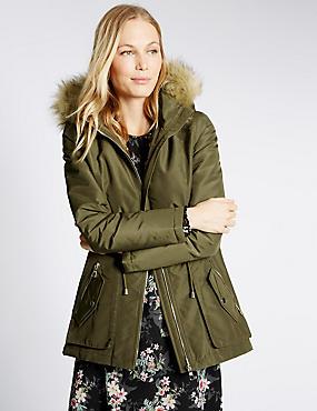 Abrigo parka con Stormwear™, CAQUI, catlanding
