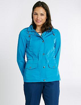 Anorak Jacket with Stormwear™, DARK TURQUOISE, catlanding