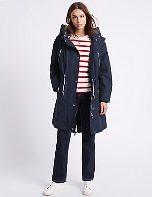 Cotton Rich Parka with Stormwear™, NAVY, catlanding