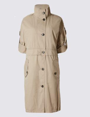 Пальто с укороченным рукавом и технологией Stormwear™ M&S Collection T493752