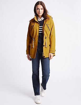 Hooded Anorak with Stormwear™, OCHRE, catlanding
