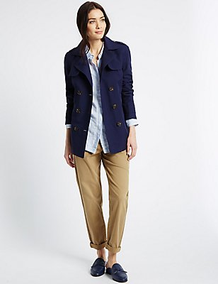 Belted Trench with Stormwear™, NAVY, catlanding
