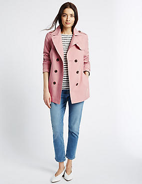 Belted Trench Coat with Stormwear™, BLUSH PINK, catlanding