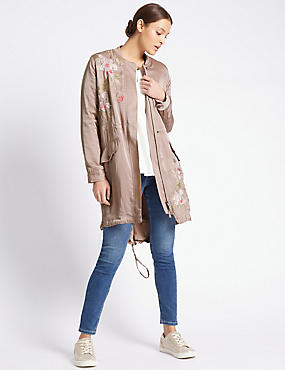 Longline Bomber Jacket with Stormwear™, PINK MIX, catlanding
