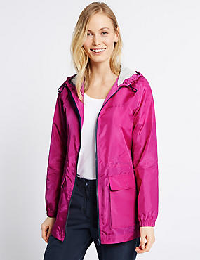 Pack Away Parka with Stormwear™, FUCHSIA, catlanding