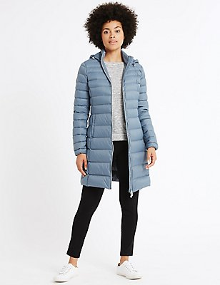 Down & Feather Jacket with Stormwear™, SOFT BLUE, catlanding