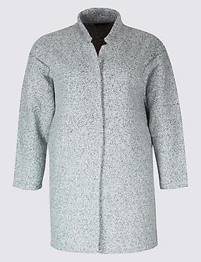 PLUS Textured Long Sleeve Jacket, GREY, catlanding