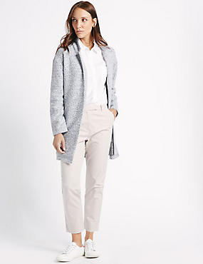 Textured Open Front Coat, , catlanding