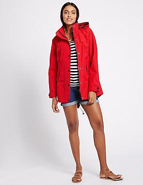 Waterproof Hooded Anorak, LACQUER RED, catlanding