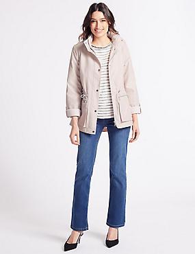 Jacquard Anorak Jacket with Stormwear™, SOFT PINK, catlanding