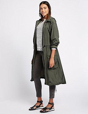 Parka Coat with Stormwear™, KHAKI, catlanding