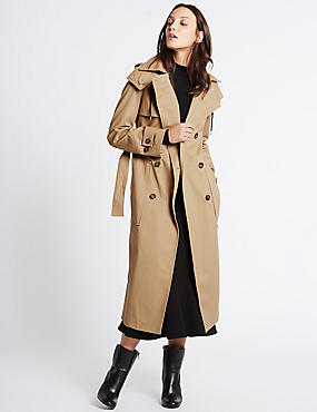 Cotton Rich Trench Coat with Stormwear™, CAMEL, catlanding