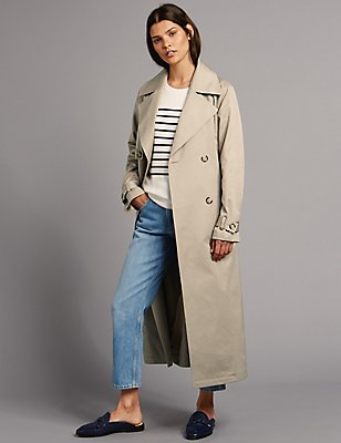 Cotton Blend Trench Coat with Stormwear™, NATURAL, catlanding
