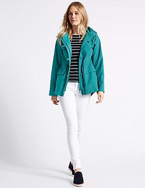 Cotton Rich Anorak Jacket with Stormwear™, JADE, catlanding