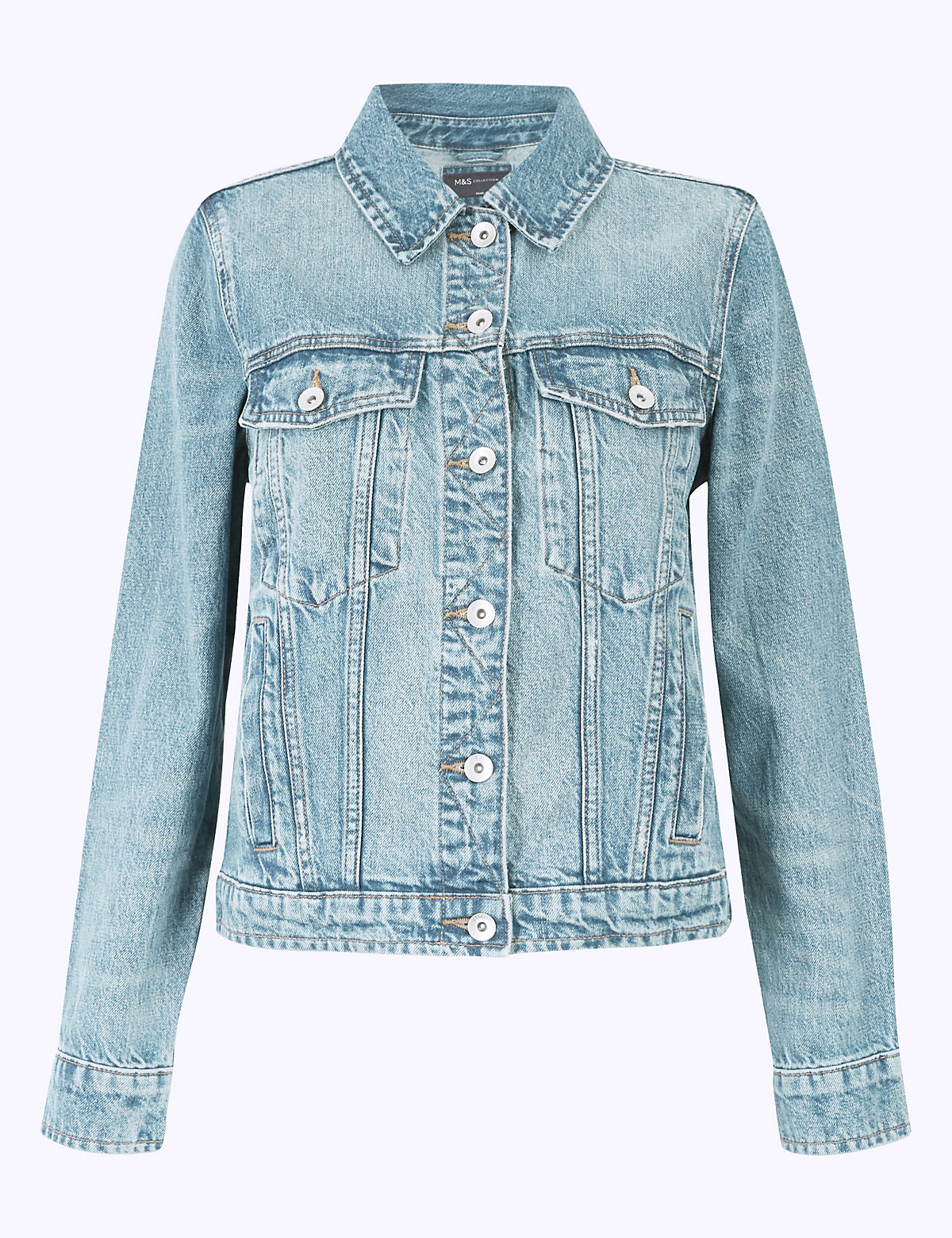 Джинсовый пиджак на пуговицах