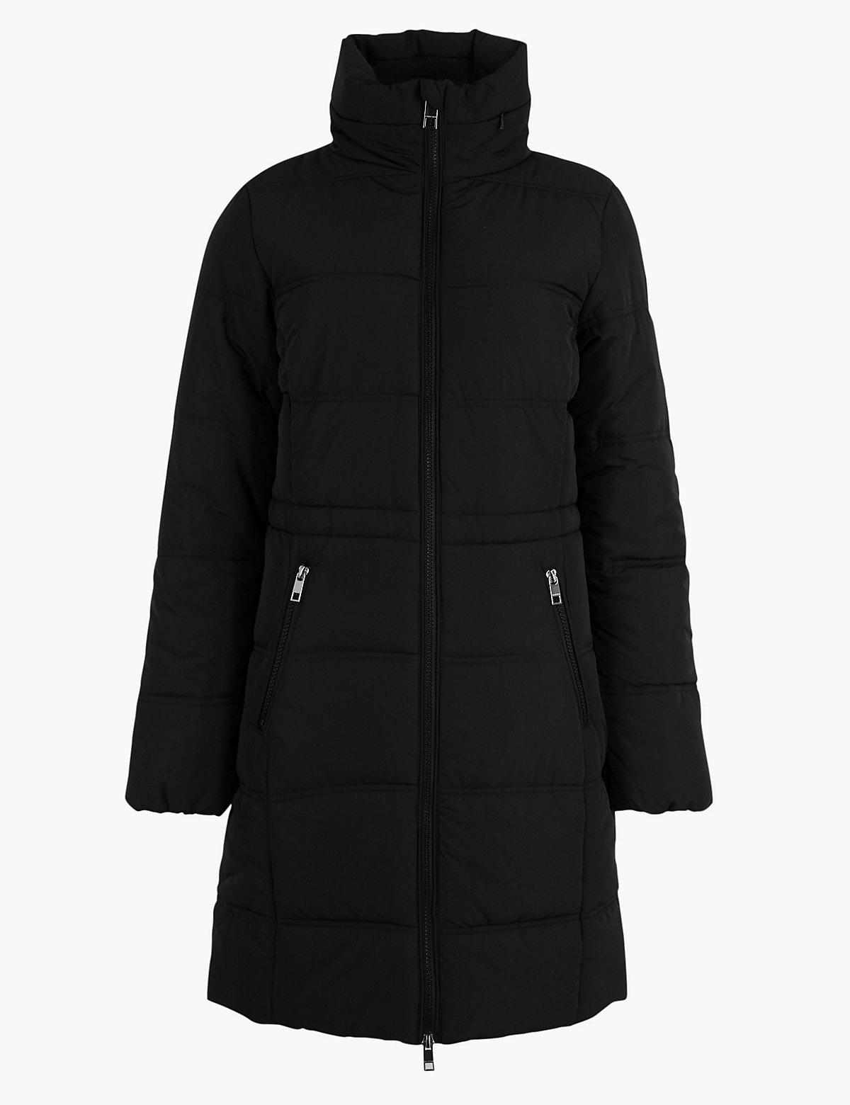 Мягкое стеганое пальто